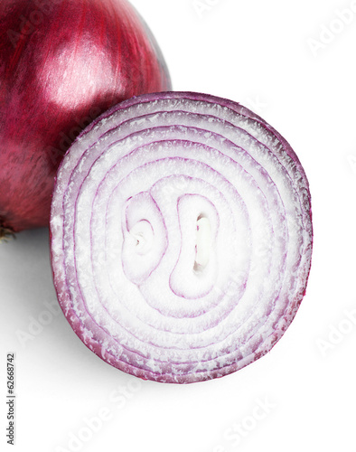 Ripe red onion slice