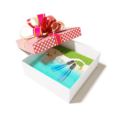 beach in the gift box