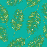Seamless vector background palm leaves
