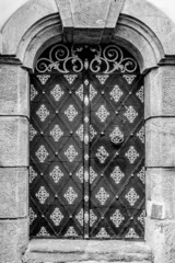 door entrance to the historic building