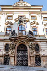 Entrance of italy embassy in Prague