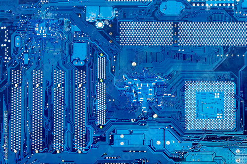 Close up of computer circuit motherboard