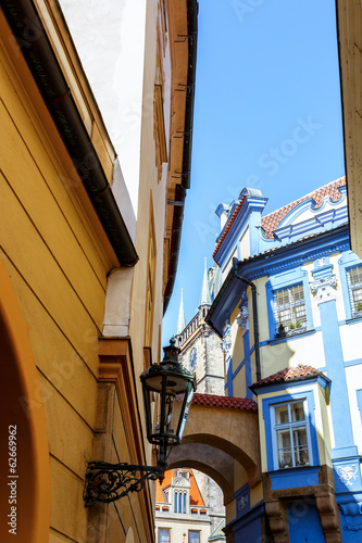 Prague alleyway - historical centre of the Prague