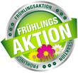 """Button Banner """"Frühlingsaktion"""" grün/pink/silber"""