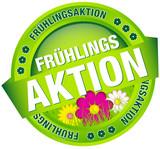 """Button Banner """"Frühlingsaktion"""" grün/pink"""
