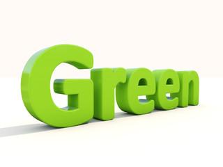 3d word green