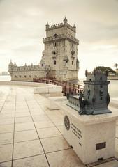Tower of Belem at sunset, Lisbon, Potugal