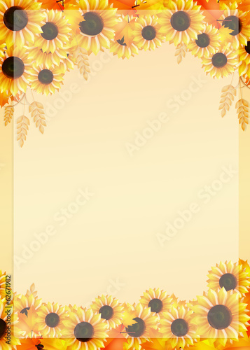 canvas print picture frame of sunflowers