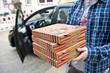 Leinwanddruck Bild - Pizza Lieferservice
