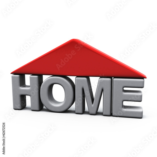 Home icon with 3d letters