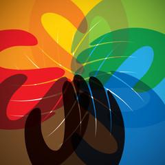 concept vector icon of partnership, friendship, teamwork