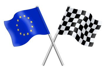 Flags: Duo Europe and checkerboard
