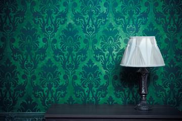 Vintage room interior toned image