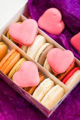 Macaron with hearts