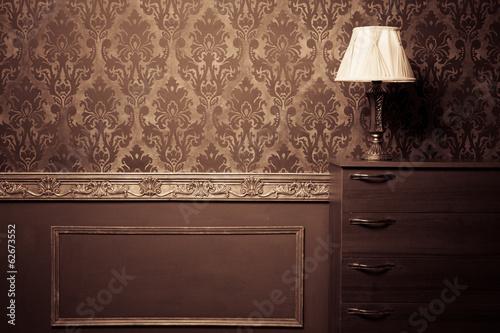 Aluminium Kasteel Vintage room interior toned image