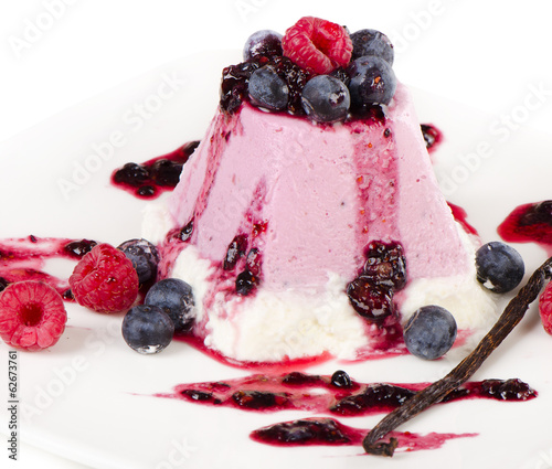 Delicious dessert with fresh berries
