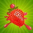 Vector Illustration of a Fresh Strawberry