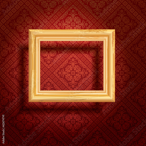frame red wall spot