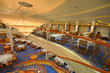 Dining room on a beautiful cruise ship, amazing architecture. - 62674951
