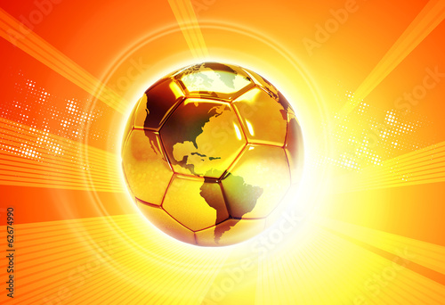 sunny soccer ball with word map