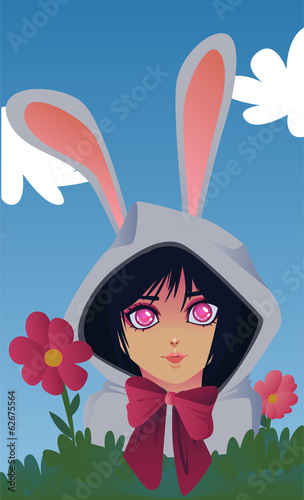 easter bunny costume vector