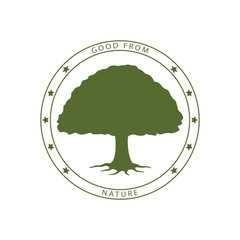 green tree stamp