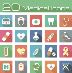 Medical vector icons set