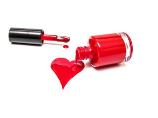 Nail polish and heart