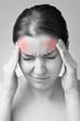 Young woman having migraine