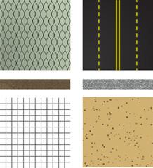 set of asphalt road textures
