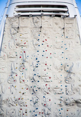 Rock Climbing Wall on Back of Cruise Shp