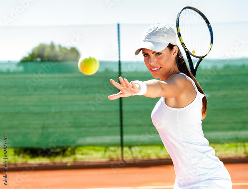 Poszter Female playing tennis