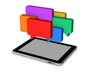 on line chat,mobile communication abstract concept