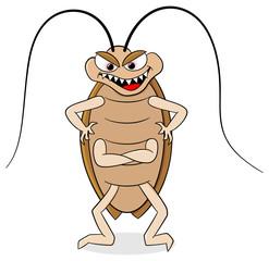gruselige Kakerlake