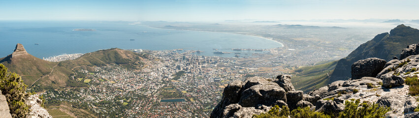 Cape Town panoramic view, Table Mountain, South Africa