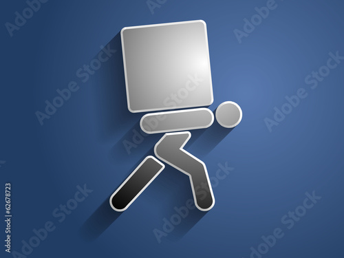 3d Vector illustration of dilivery icon