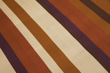 Diagonal lines on a piece of fabric poster