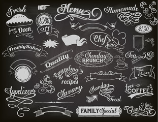 Chalkboard Restaurant Banners and Frames