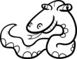 snake cartoon coloring page