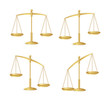 Vector Gold justice scales set isolated on white - 62679779
