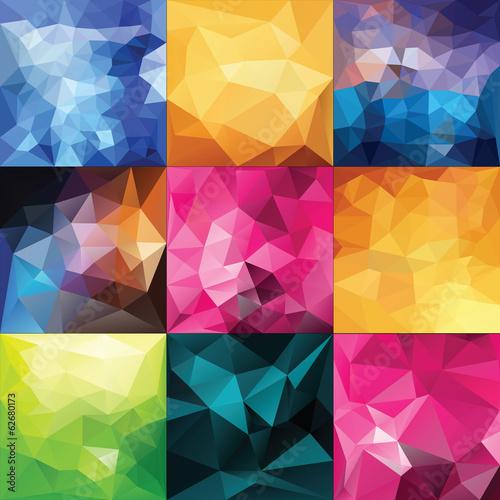 Polygonal Geometric backgrounds. © katyau