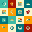 Set of abstract summer icons