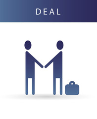 Vector Human icon of partnership and business deal.
