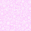 Pink and white Easter eggs seamless pattern