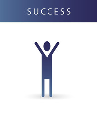 Human success icon simple web element. Graphic illustration.