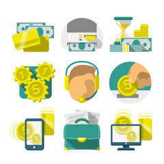 Flat Banking icons