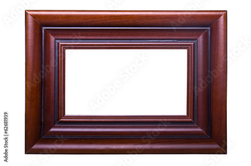 Old wooden brown frame