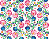 Seamless folk Polish pattern - wzor lowicki - 62682118