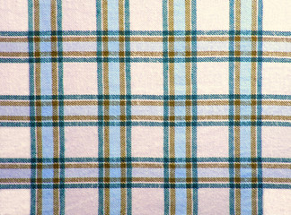 Checkered textile with blue & brown