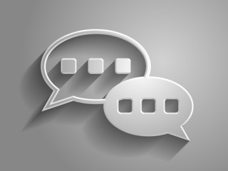3d Vector illustration of dialog icon